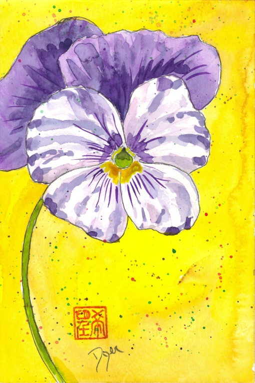 March pansies