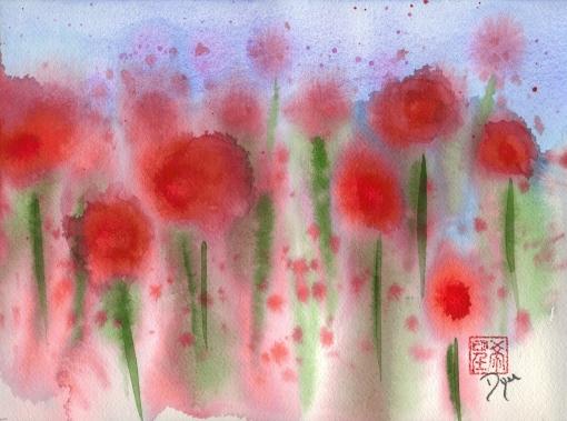Red Wildflower Meadow
