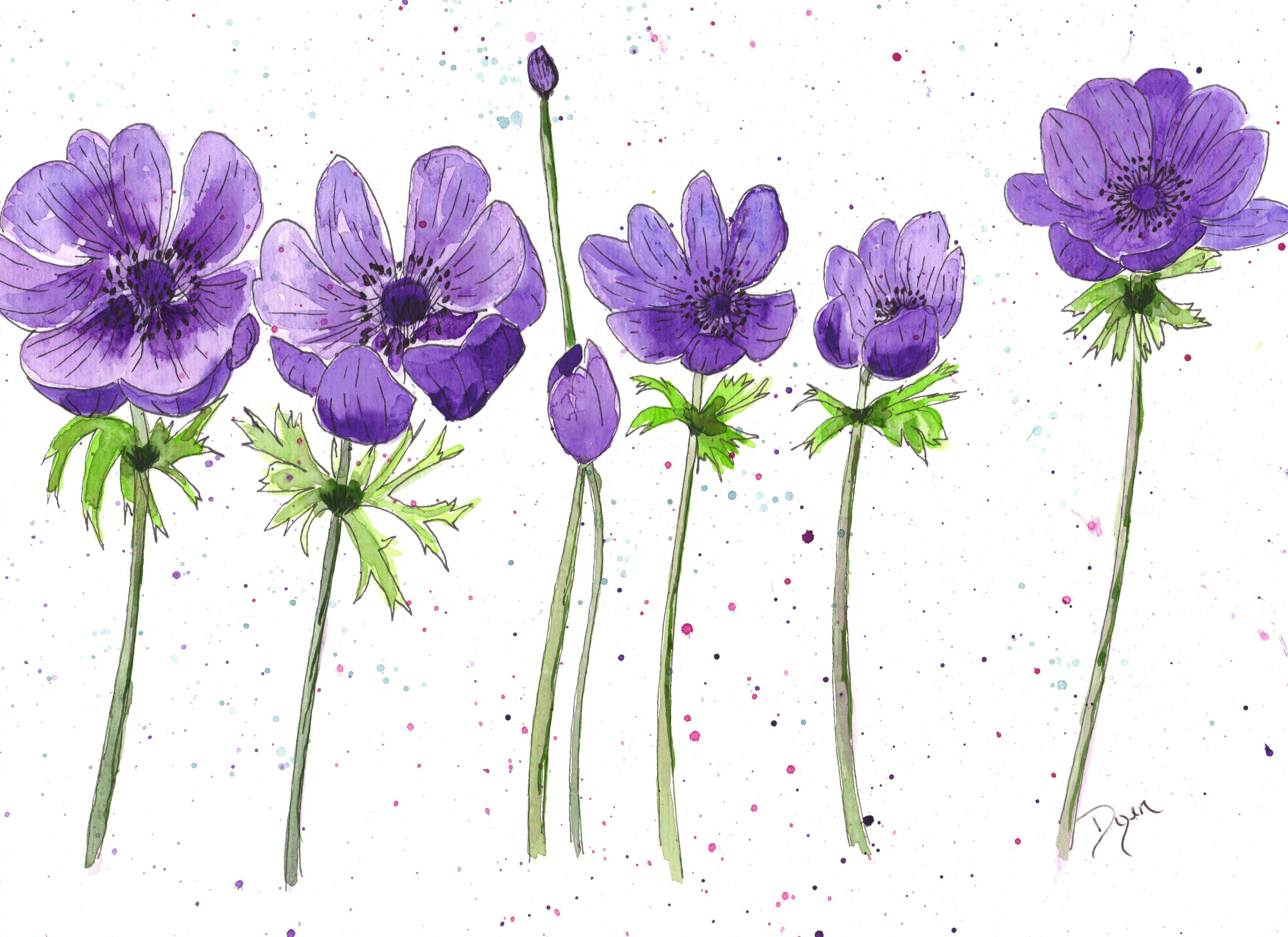purple poppies art prescription