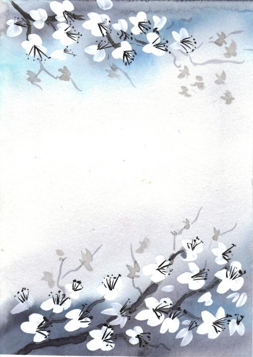 cherry blossom 5 x 7
