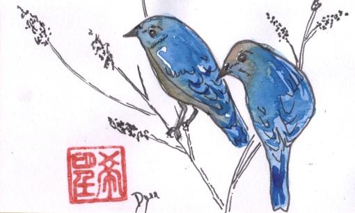 blue birds Jan