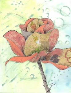 Stained Glass Rose 2