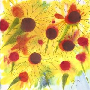 Sunflowers inks