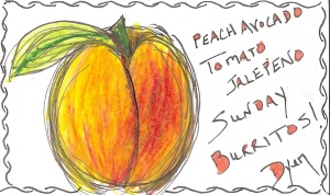 Index card peach