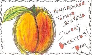 Index card peach