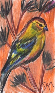 Index card Goldfinches