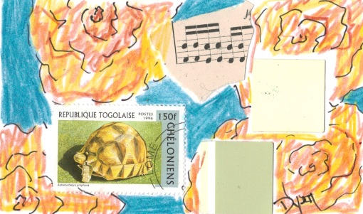 Index card turtle