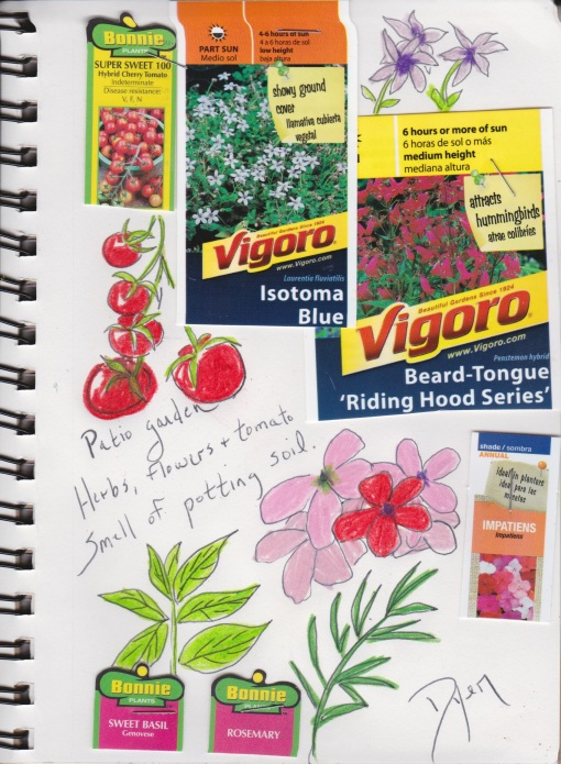 Art journal patio garden 1