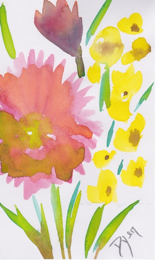 Index card buttercups