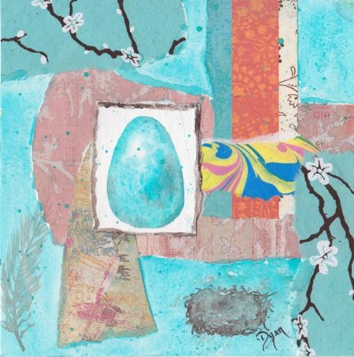 Bird egg blue bird