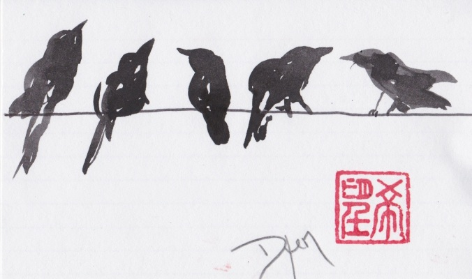 Index card crows 1