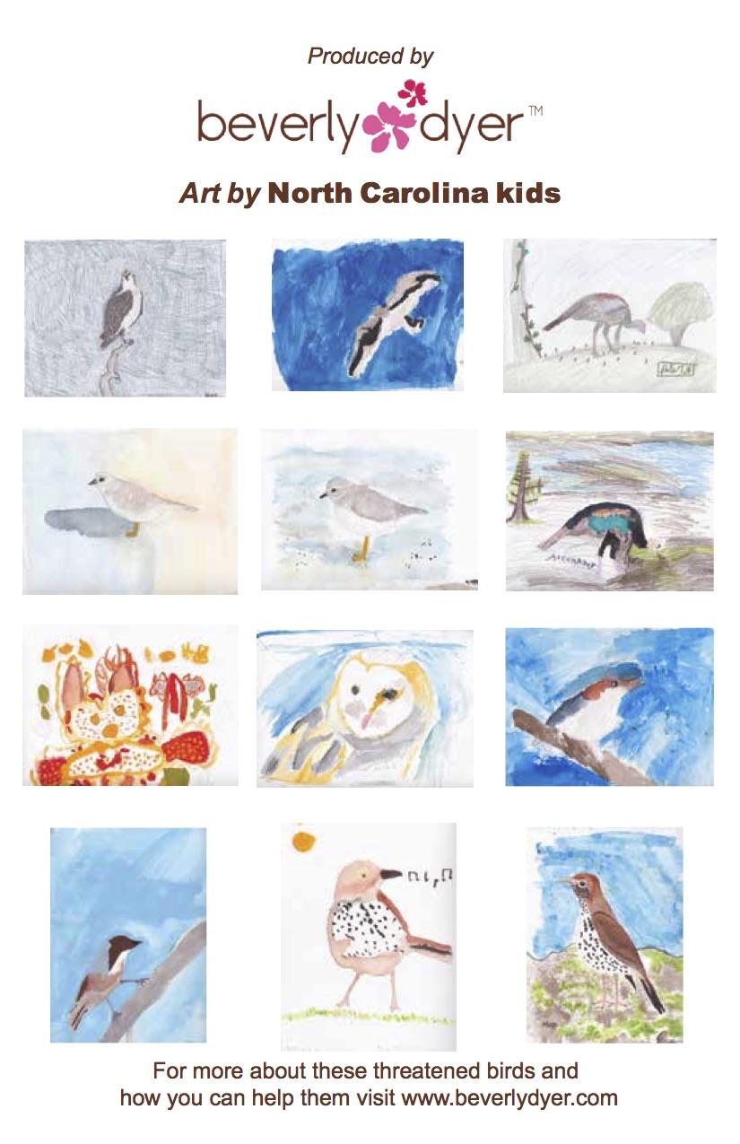 Endangered birds back card